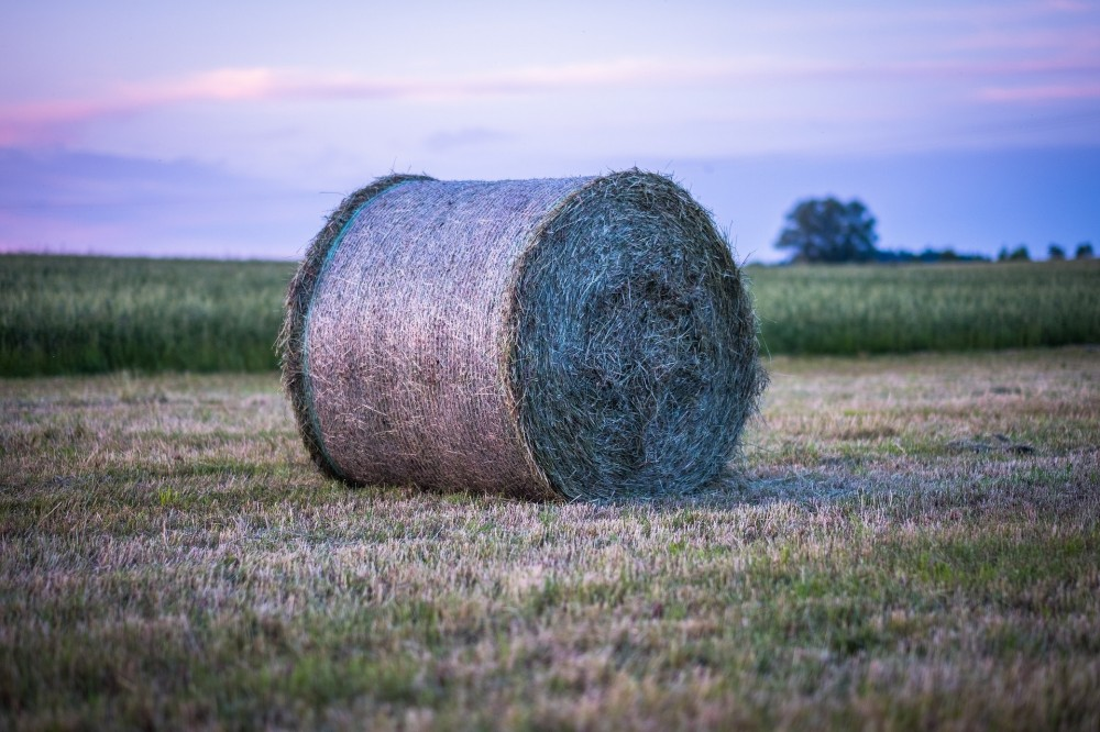 net wrap, twine, and plastic hay bales
